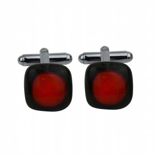 Class Cufflinks - Orange & Black